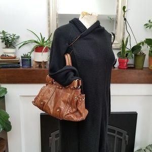 Francesco Biasia Brown/Silver Shoulder Bag
